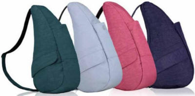 four sling bags in different colors
