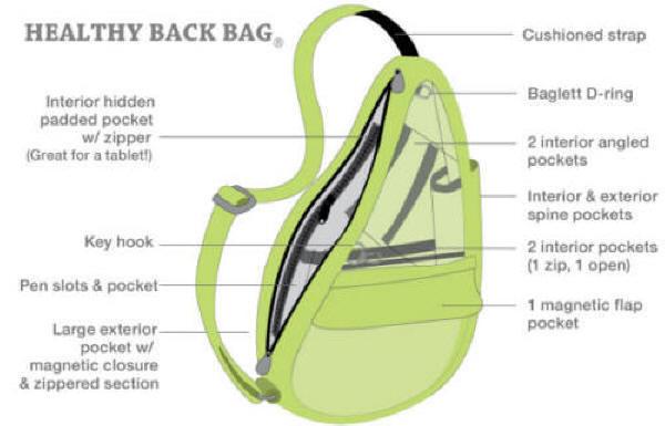 Distressed Nylon Healthy Back Bag by Ameribag (Free Shipping) 16c5519198fa