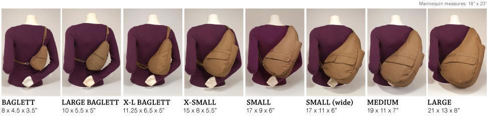 Ameribag Healthy Back Bag Sizes