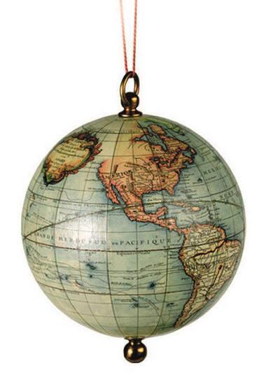 Christmas World Globe Ornament (Free Shipping)