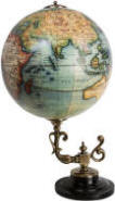 Vaugondy Baroque World Globe on desk stand