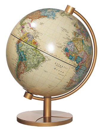 Madrid illuminated desktop world globe free shipping this illuminated 11 world globe with antique beige color oceans current map features an innovative dual image cartography it shows natural vegetation gumiabroncs Images