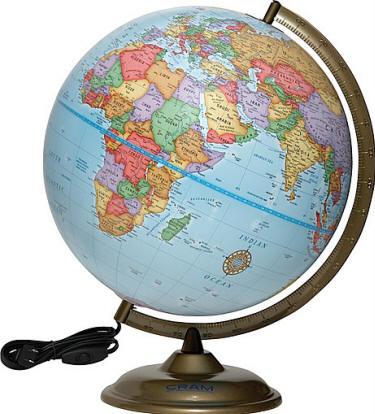 Round Globe Map.021113 Montgomery Desktop Cram World Globe Free Shipping