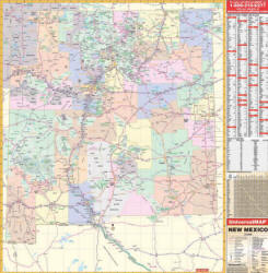 Free New Mexico Map.State Wall Map New Mexico