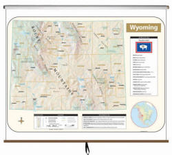 Wyoming State Maps (Free Shipping)