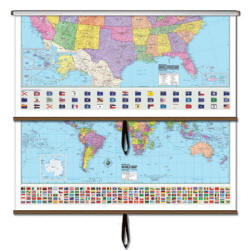 United States World Wall Map - Combo Map Set of 2 (Free ...
