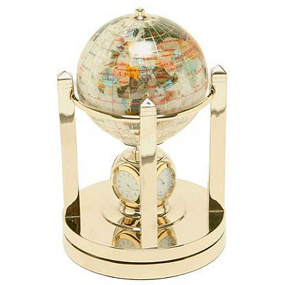 042913 mother of perl gemstone world globe with clock free shipping 042913 mother of perl gemstone world globe with clock free shipping gumiabroncs Image collections