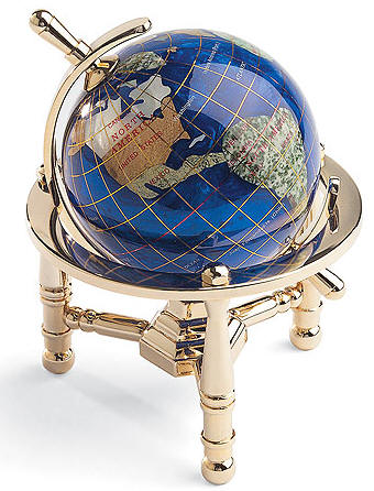 Gemstone World Globes Are Handmade With A Variety Of Semi Precious Stones That Individually Hand Carved Into The Shape Countries And Continents