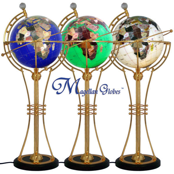 Gemstone floor and desktop globes and world maps free shipping 64999 free shiph world in hand gemstone paperweights contempo globes gemstone wall maps gumiabroncs Image collections