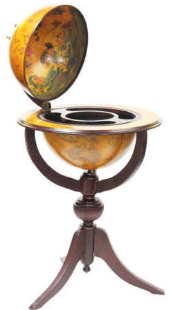 Portable Large Globe Bar Floor Stand - Venice (Free Shipping)