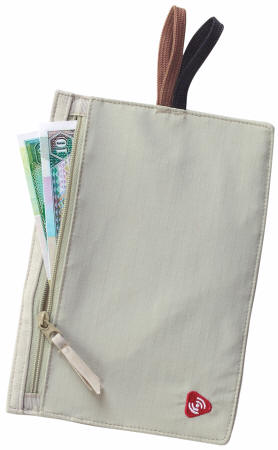 Tan RFID Blocking Travel Wallet