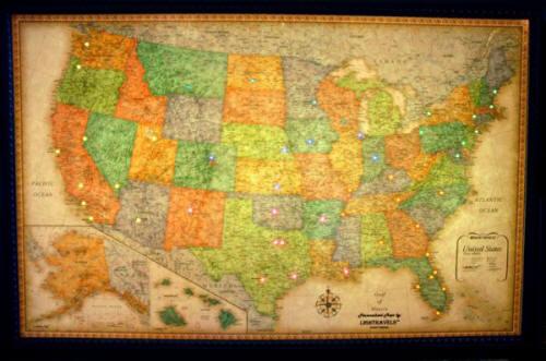 USA Clic Illuminated Maps on