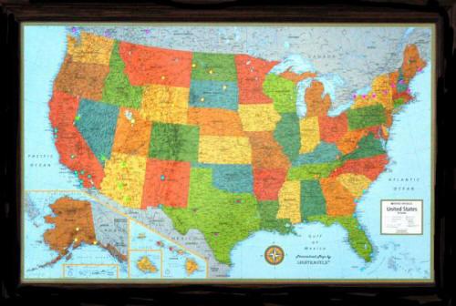Modern Usa Illuminated Map Free Shipping