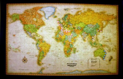 Rand Mcnally Classic World Illuminated Map Free Shipping