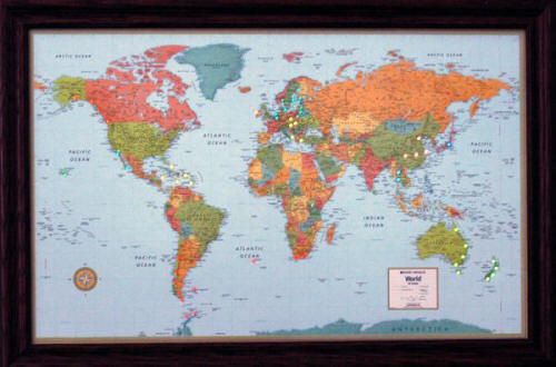 Modern Map Of The World.World Explorer