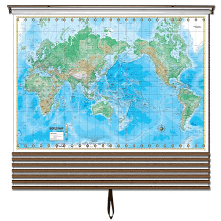 World wall map set