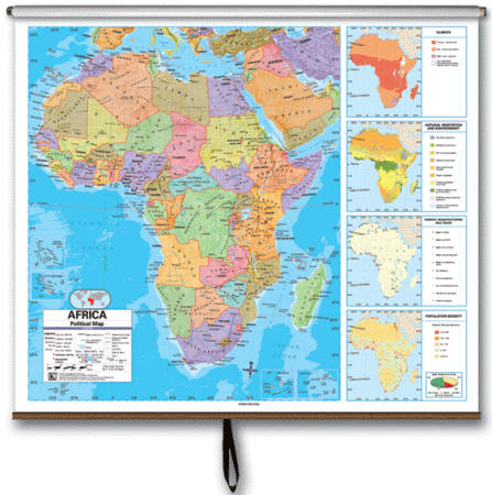 Africa wall map political africa political classrom wall map on roller item kp27917 gumiabroncs Choice Image