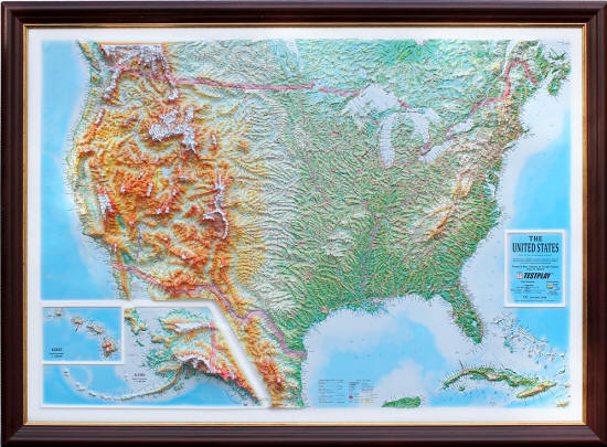 Usa 3d Wall Map Free Shipping - Free-3d-us-map