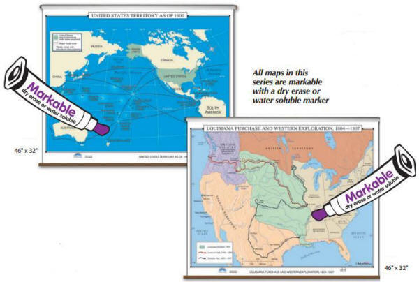 Us History Classroom Pull Up Wall Maps Free Shipping