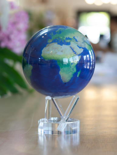MOVA solar powered rotating world globe satelllite view of earth