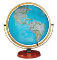 large illuminated desktop world globe