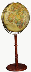 beige globe on pedestal base