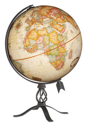 Macinnes desktop world globe by replogle globes free shipping macinnes replogle world globe features a completely up to date map with an antique style gumiabroncs Images