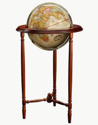 small globe on floor stand