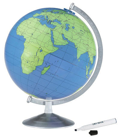 blue green desktop world globe