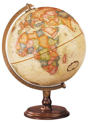 Lenox desktop world globe by replogle globes free shipping desk globe on round wood stand gumiabroncs Image collections
