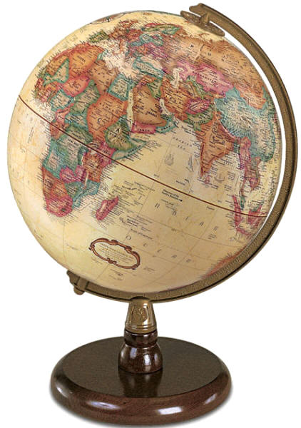 QUINCY Desktop World Globe by Replogle Free Shipping