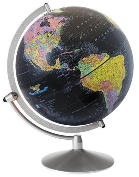 9fed64a38e Midnight Black World Globe (Free Shipping)