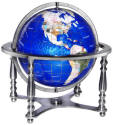 Silver Compass Jewel Gemstone Globe