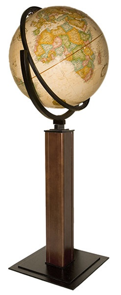 Delightful Landen Floor Globe Evokes Images Of Upscale American Interiors With Its  Geometric Form And Balanced Look. The Floor Stand Features Steel And Solid  Hardwood ...