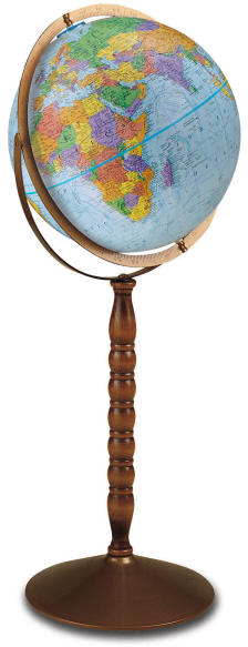 Educational world globe