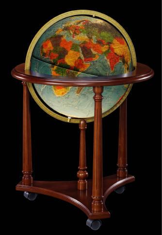 Lafayette Illuminated Floor Stand World Globe By