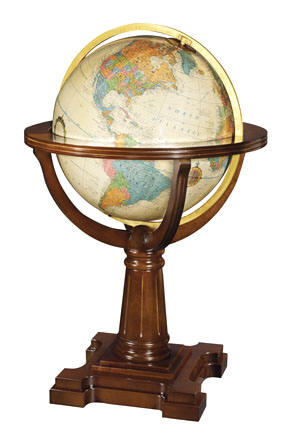 large floor standing world globe