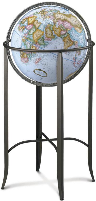 Trafalgar Floor Standing World Globe By Replogle Free