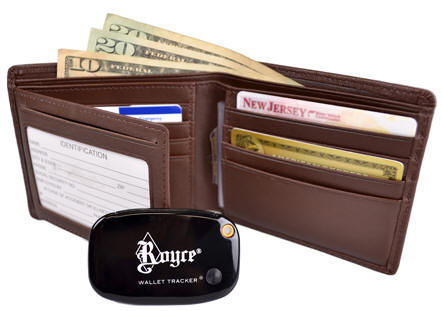 Leather Rfid Freedom Wallet With Tracking Device Free