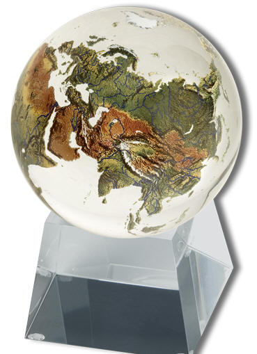 3 Quot Crystal Clear World Globe