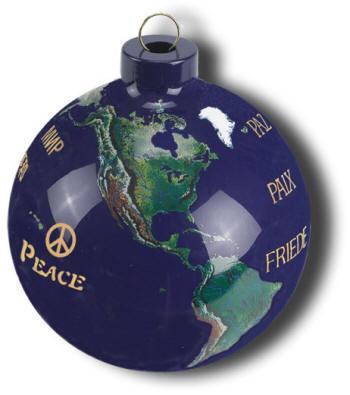 Handmade Glass World Globe Ornaments Free Shipping