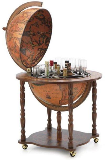 Globe bar drinks cabinet mf cabinets for 16 inch floor old world bar globe cart