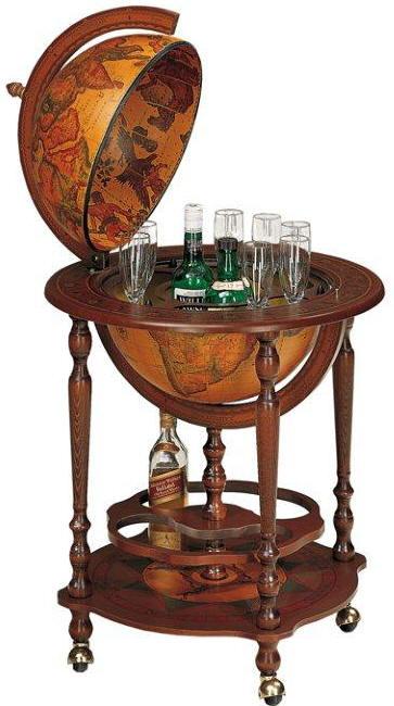 Classic 16 bar globe by zoffoli free shipping for 16 inch floor old world bar globe cart