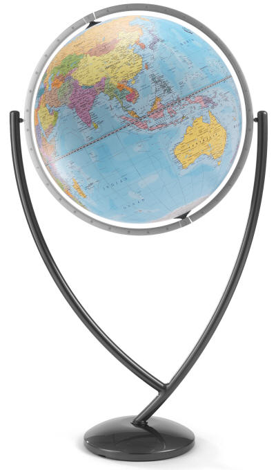 Colombo Floor Stand World Globe By Zoffoli Free Shipping
